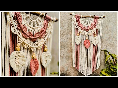 diy-macrame-wall-hanging-with-feather,-easy-macrame-for-beginners