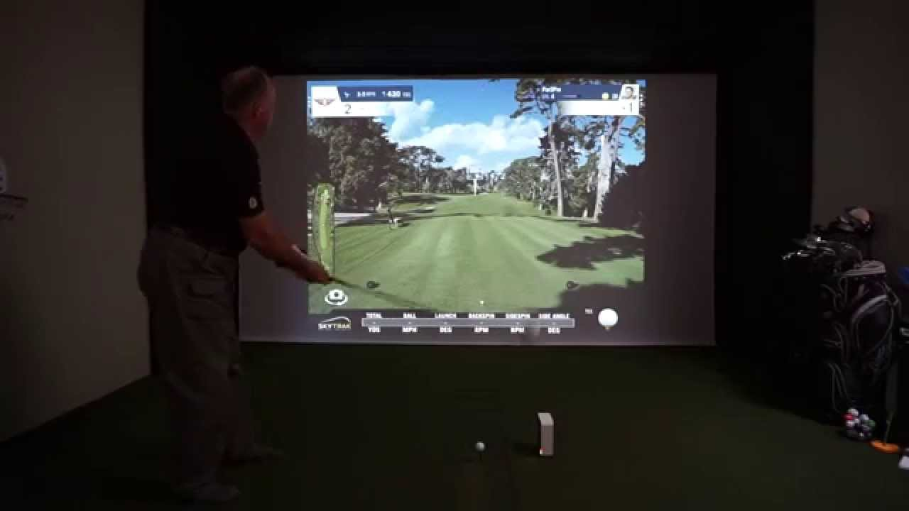 SkyTrak with World Golf Tour (WGT) Golf Course Simulation App