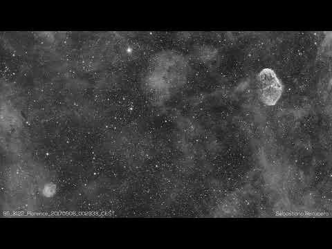 Near-Earth Asteroid 3122 Florence transit near Sh2-104 and the Crescent nebula