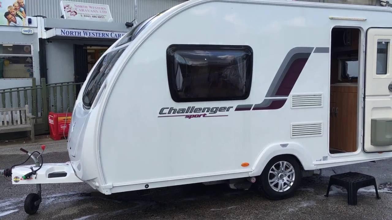 Swift Challenger Sport 382 2 berth rear kitchen lightweight caravan for  sale North Western Caravans
