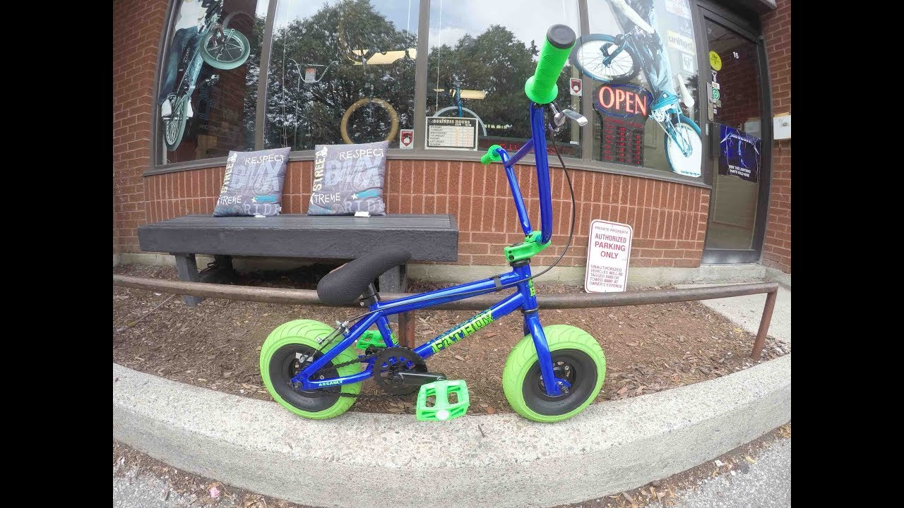 2f1d7a2cecf FatBoy Mini BMX Blue/Green assault Pro Unboxing @ Harvester Bikes ...