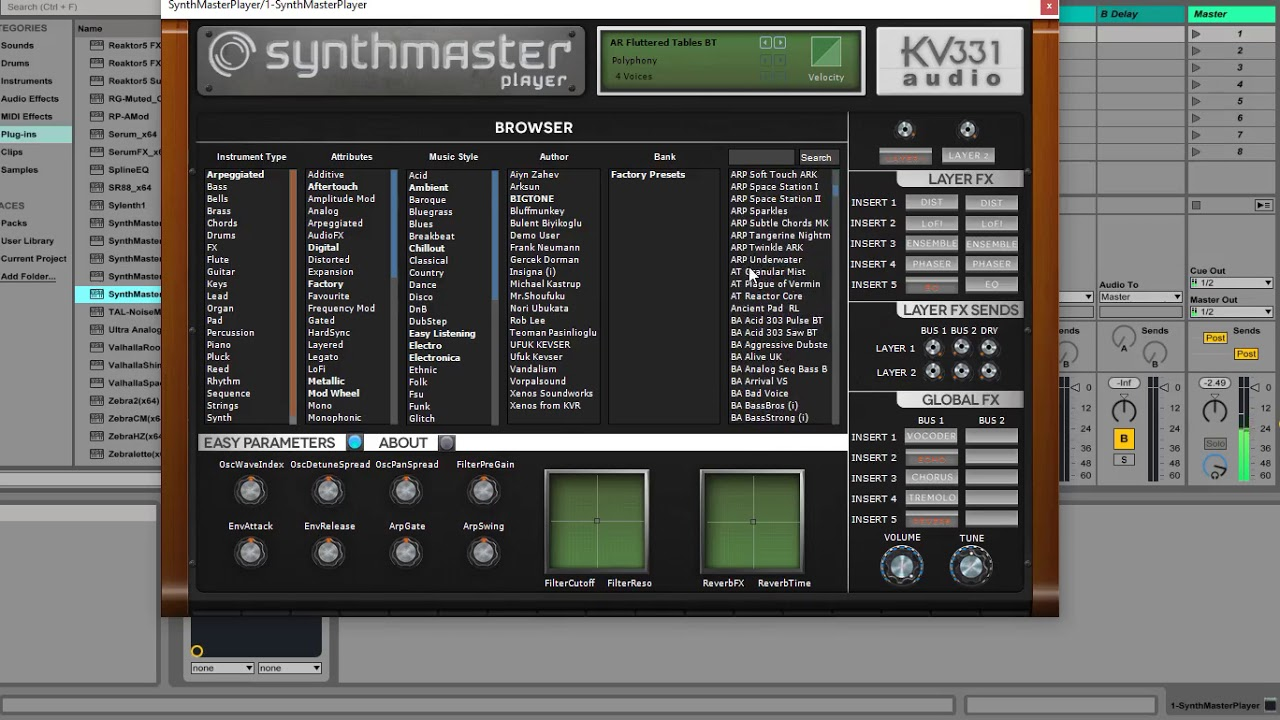 kv331 synthmaster player review
