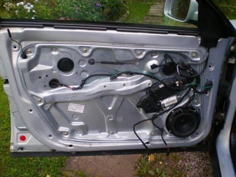 Разборка двери и ремонт замка на Volkswagen Passat B5