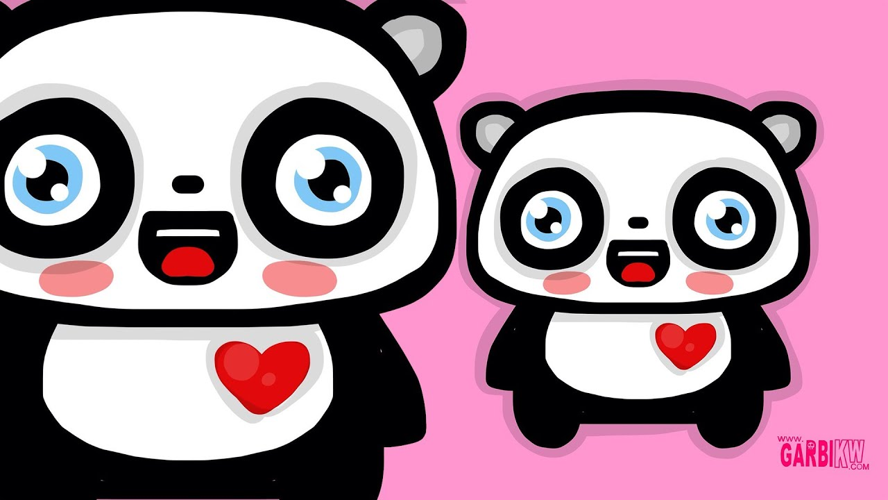 Tutorial Cómo Dibujar Un Oso Panda Estilo Kawaii