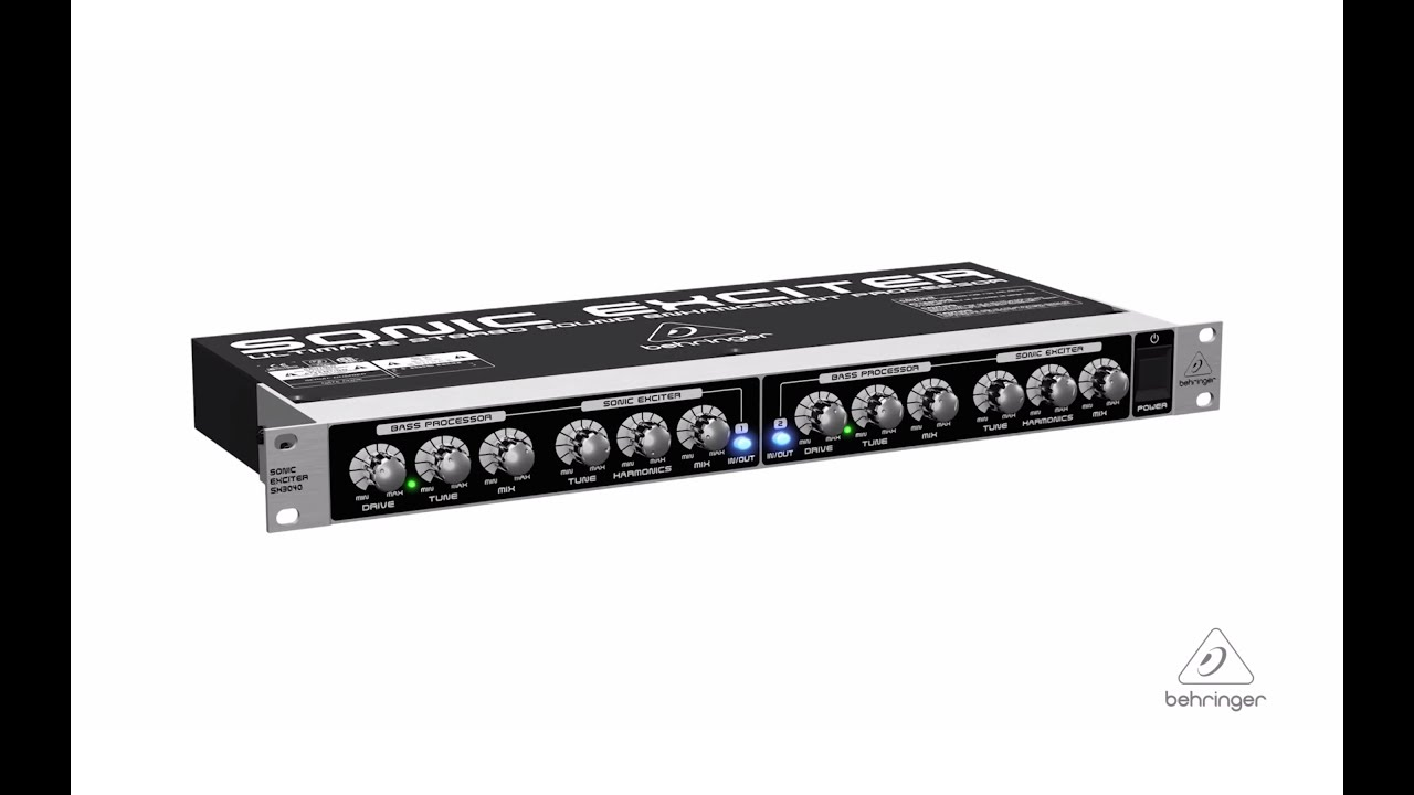 SONIC EXCITER SX3040 Ultimate Stereo Sound Enhancement Processor ...