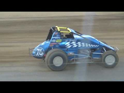 JJ Hughes @ Lawrenceburg Speedway with USAC 07-09-2017