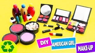 👄💄How to Make American Girl Makeup / Cosmetics - simplekidscrafts
