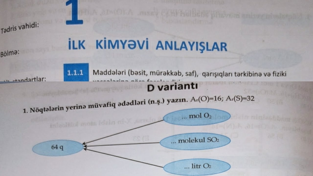 DIM kimya 1ci yarimil A1 var yazili sekilde olan  suallar Online hazırlıq üçün əlaqə 0706989981