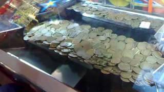 Playing coin dozer