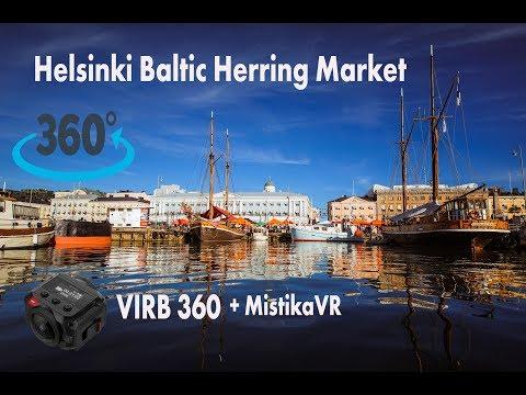 Helsinki Baltic Herring Market 2017 360°VR Garmin Virb 5K 360