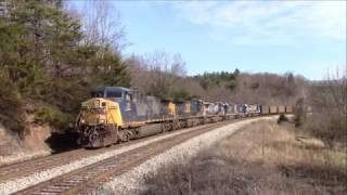 Trains on the CSX Alleghany and James River Subs December 2016