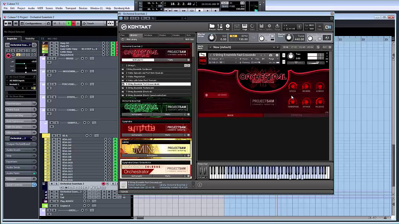 Projectsam orchestral essentials 2 (download) | sweetwater.
