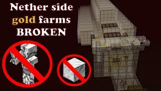 Nether based gold farm on Bedrock and why it is broken. Many bugs exposed. Your help needed!