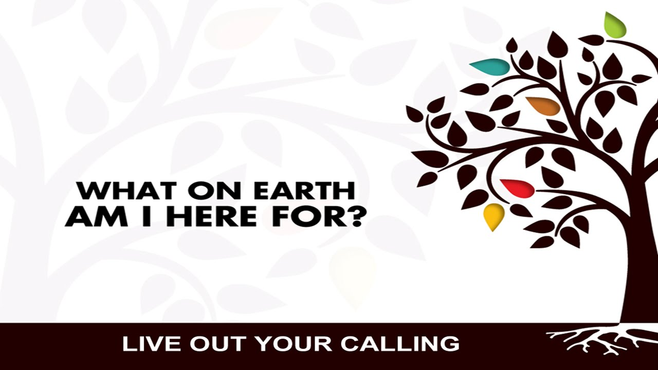 What on Earth am I here for Part 2 - Living Out Your Calling 10-18 ...