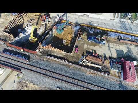 Aerial View West Nicholson Road East Atlantic Ave Bridge Reconstruction Audubon NJ