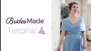 BridesMade TieTorial  - Simple Off The Shoulder