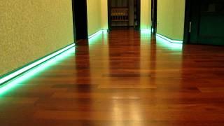 LED подсветка / LED illumination(Подсветка в плинтусе. http://gormaster.org/ Управляется пультом. Мы: Компания