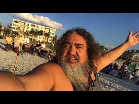 Venice Beach FL Sunday Sunset Drum Circle 1 21 18