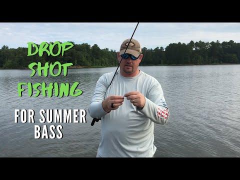 Shearon Harris Lake - Drop Shot Fishing For Summer Bass (Episode 8 - 2019)