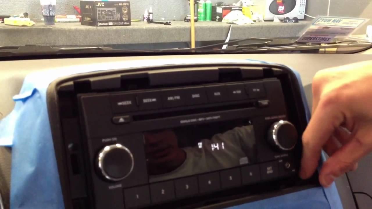 Dodge Caravan How To Remove Radio Dash Stereo Install