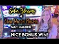 BONUSES! Solar Blessing and Starwatch Magma Slot Machines! Nice WIN!