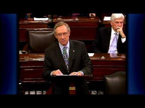 Majority Leader Reid Explains Late-Night Senate Vote