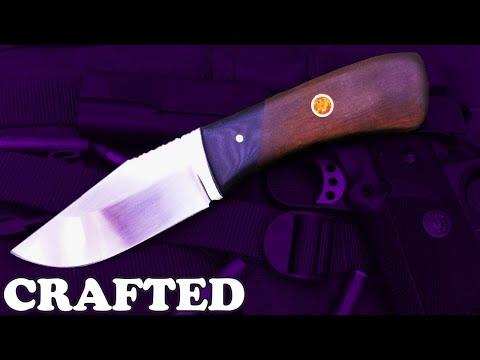 Knife making - Razor sharp hunting knife