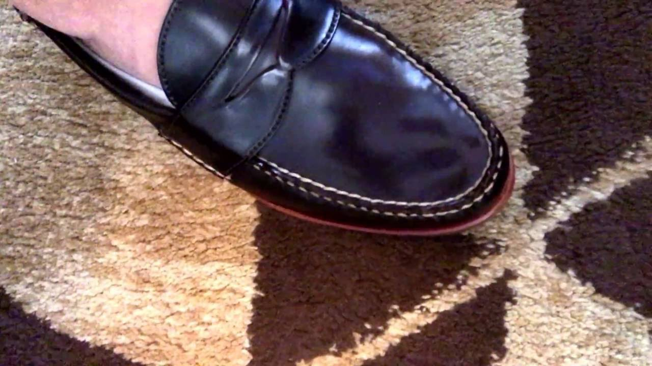 1d16ab7f2e Initial try-on of the Rancourt Espresso Shell Penny Loafers. - YouTube