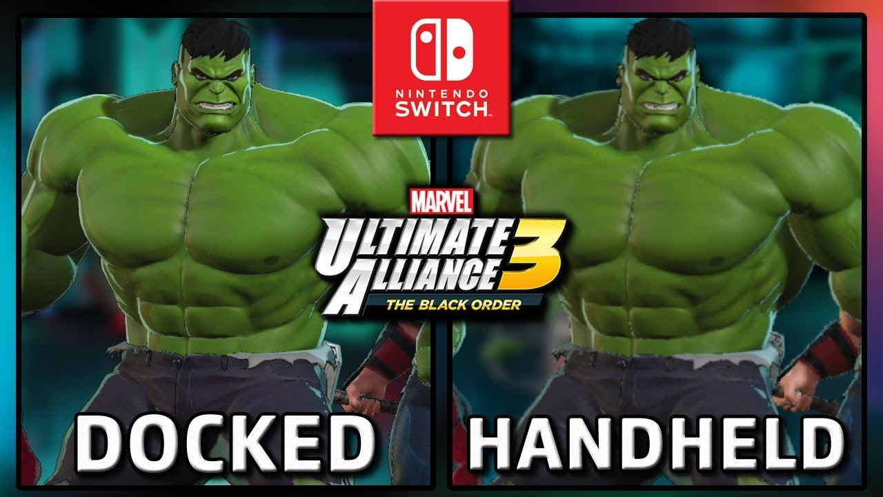 Marvel Ultimate Alliance 3: The Black Order | Docked & Handheld | Frame Rate TEST on Switch