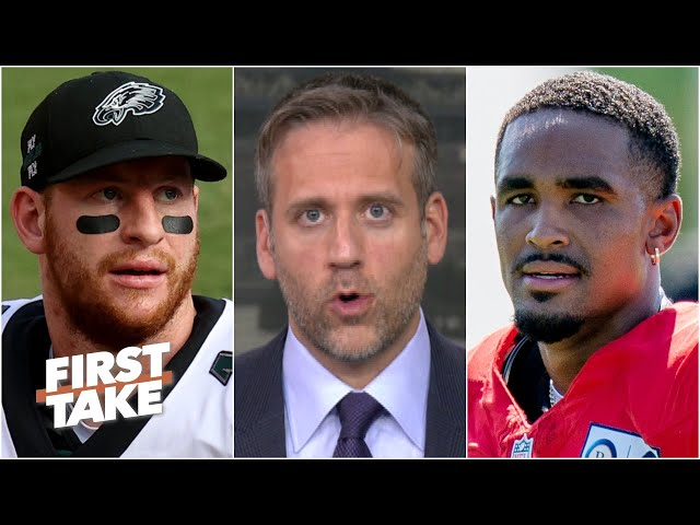 Jalen Hurts will be the Eagles' QB if Carson Wentz's struggles continue - Max Kellerman | First Take