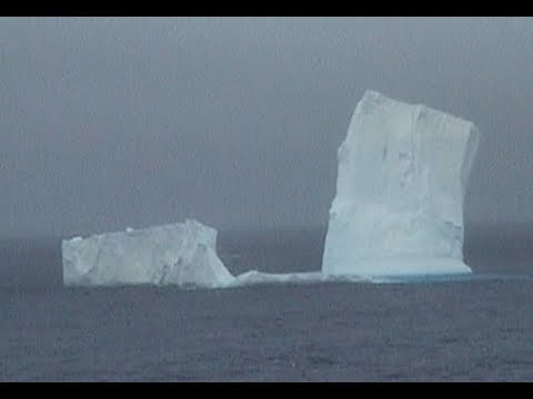 Antarctica Ross Sea.  Part 29.  The last weathered  Icebergs and back to stormy Southern Ocean