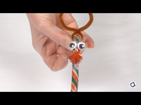 How To Make A Candy Cane Reindeer Youtube