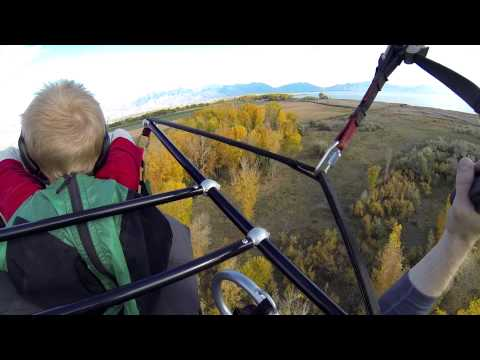 Paramotor Funnest Dad Ever!! Powered Paragliding Father Flies With His Boys!!