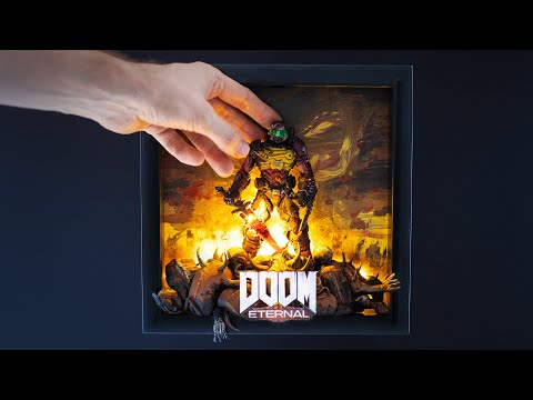 DOOM ETERNAL Summarized In A Frame – Polymer Clay Tutorial