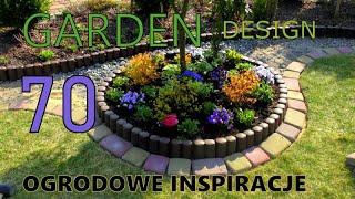 GARDEN DESIGN (70) - Ogrodowe Inspiracje - Atrakcyjny klomb kwiatowy.