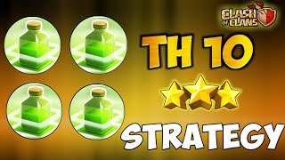 TRIPLE JUMP + DOUBLE JUMP | NEW Th10 Super Strong 3 STARS WAR ATTACK STRATEGY | Clash Of Clans