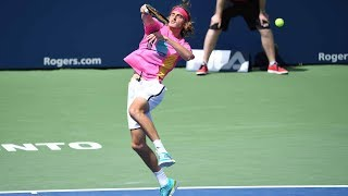 Highlights: Tsitsipas Saves 2 MP; Nadal Battles Through In 2018 Rogers Cup QF