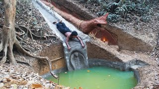 Building the most beautiful swimming pool water slide