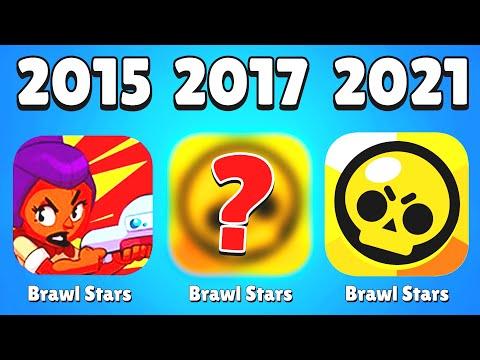 ECCO TUTTA L'EVOLUZIONE DI BRAWL STARS DAL 2015 AL 2021!!