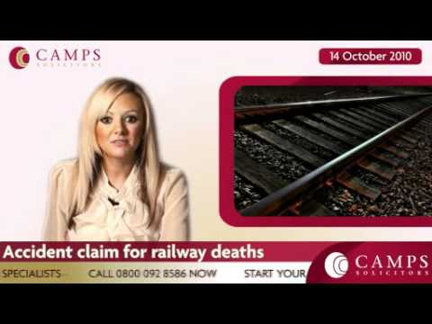 Accident claim for railway deaths