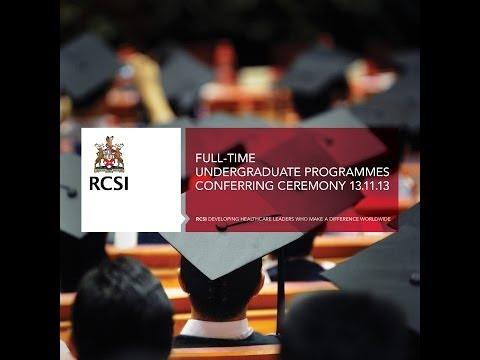 RCSI November Conferrings - Full-time Undergraduate Programmes (Wed 13th November - 10am)