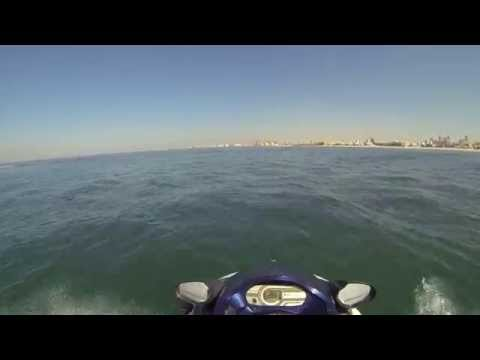 On a hydrocycle in Dubai