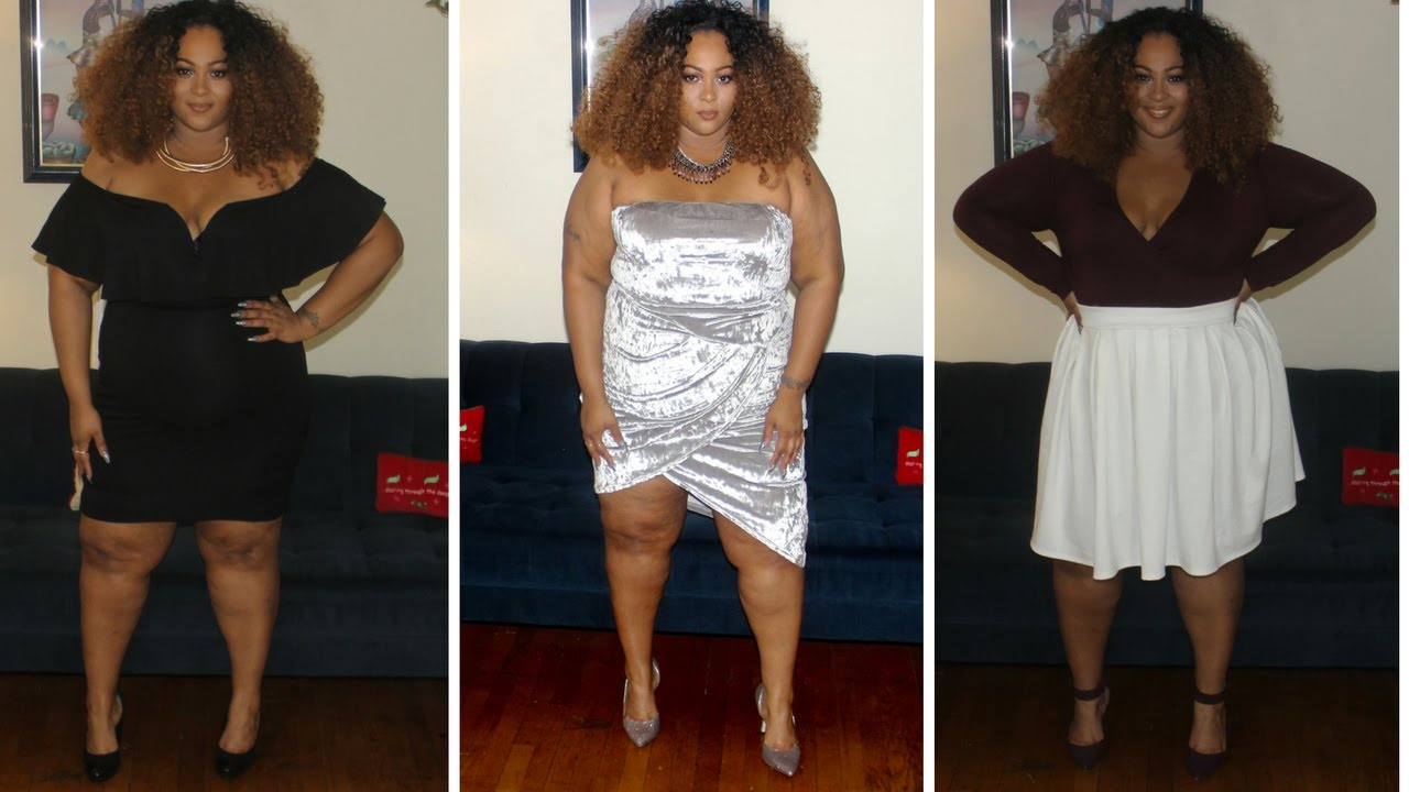 Plus Size Holiday Lookbook 2016 (NYE Outfits) | Feat. CurvySense