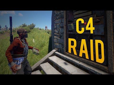 SOLO C4 RAID & COUNTER RAID DEFENCE! - Rust SOLO Survival