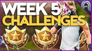 Fortnite Saison 5 Semaine 5 Challenges Guide! Battle Pass Challenges!