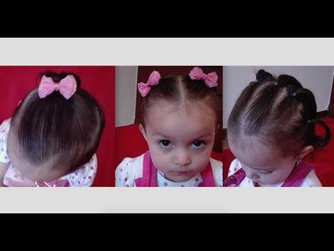 3 tipo de coletas para ni as con poco cabello parte 1 chicas guapas youtube Pelo corto para ninas