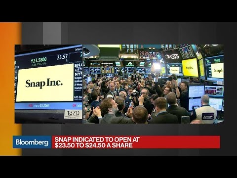 Snap Opens at $24 on NYSE as Shares Surge