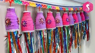 Diwali Door Hanging TORAN From Empty Oil Bottles | Craft from Out of Bottle | Sonali