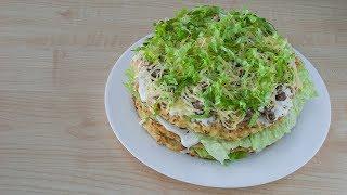 Торт из кабачков - вкусная, сытная, оригинальная закуска для праздничного стола