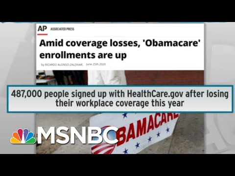 Trump Picks Worst Time To Attack Pre-Existing Condition Coverage | Rachel Maddow | MSNBC